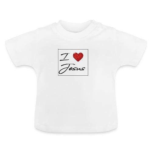 I LOVE JESUS I Christliches Tshirt Ich liebe Gott - Baby T-Shirt