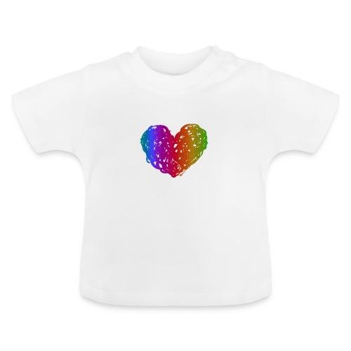 Coeur arc-en-ciel - T-shirt Bébé