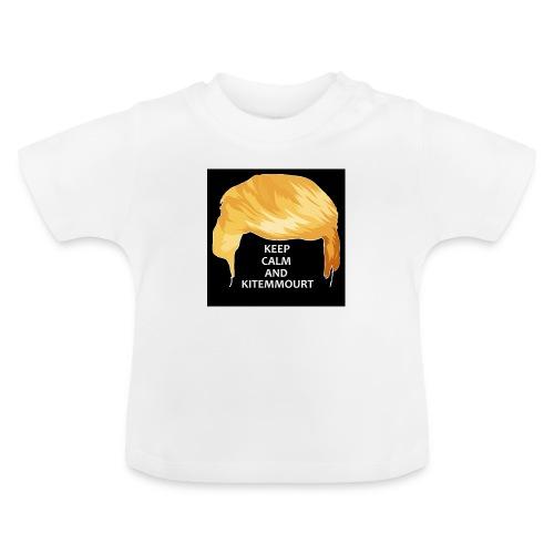 Keep Calm And Kitemmuort Capelli Trump - Maglietta per neonato