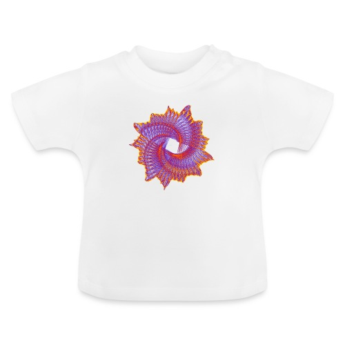 Spiral fan ammonite prehistoric animal fossil 11912bry - Baby T-Shirt