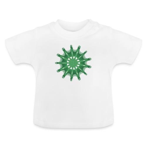 grünes Steuerrad Grüner Seestern 9376alg - Baby T-Shirt