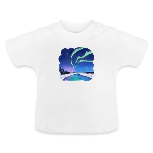 Réflexion des aurores boréales - T-shirt Bébé