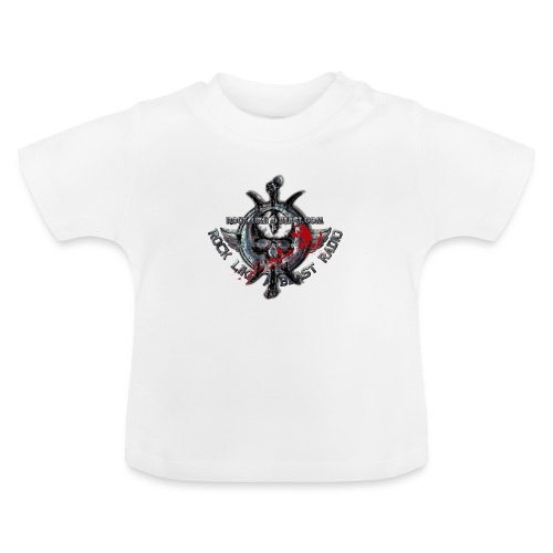 Blood Skull Logo - Baby-T-shirt