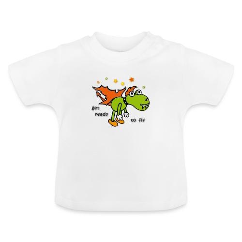 Drachen, Sterne, fliegen - Baby T-Shirt