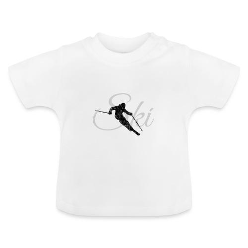 Ski Skifahren, Skifahrer - Baby T-Shirt