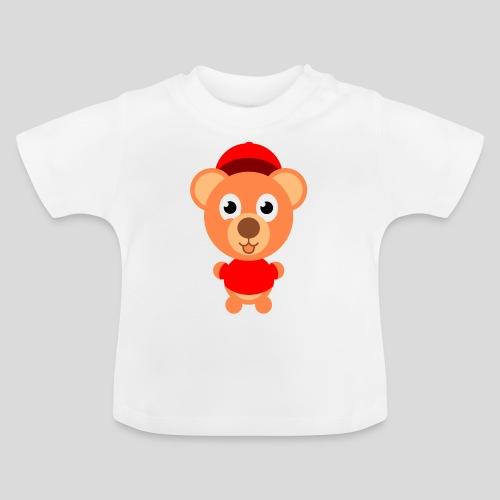 Teddy mit rotem Shirt - Baby T-Shirt