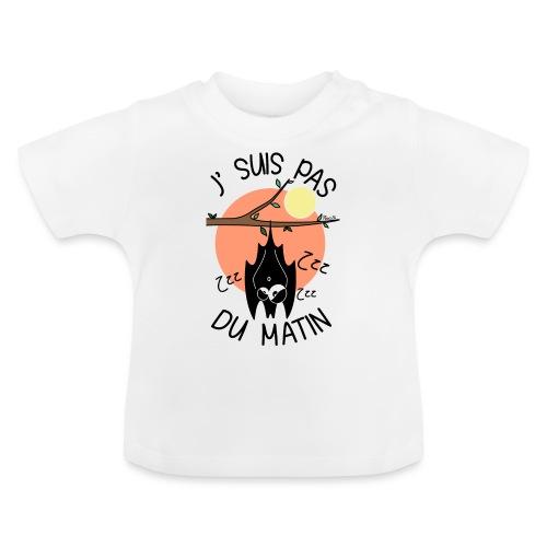 Chauve-souris, J' Suis pas du Matin - T-shirt Bébé