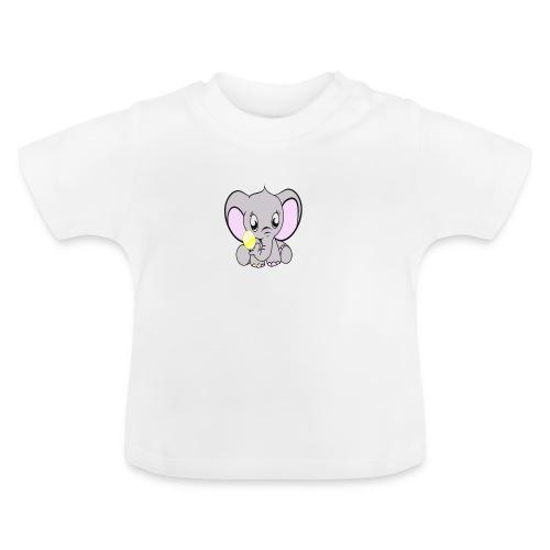 Baby olifantje met rammelaar - Baby T-shirt