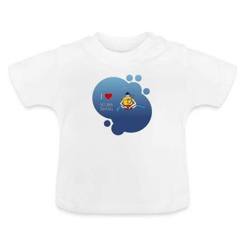 J'aime la plongée sous-marine - plongeur - T-shirt Bébé