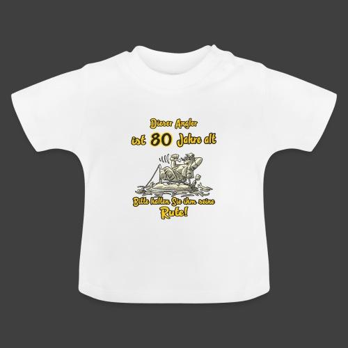 FUN - Dieser Angler ist 80 Jahre Geburtstag - Baby T-Shirt
