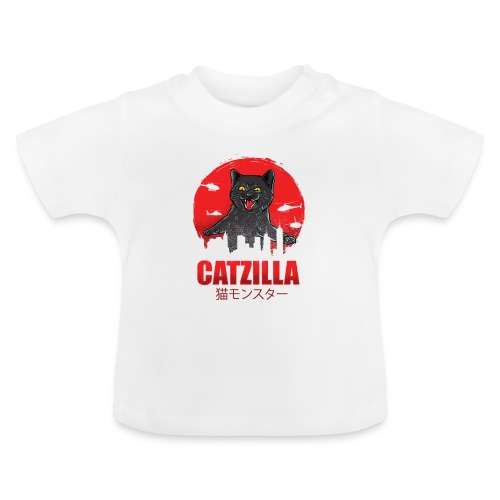 Catzilla Katzen Horror B-Movie Parodie - Baby T-Shirt