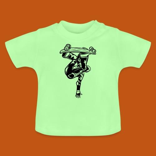 Skater / Skateboarder 03_schwarz - Baby T-Shirt