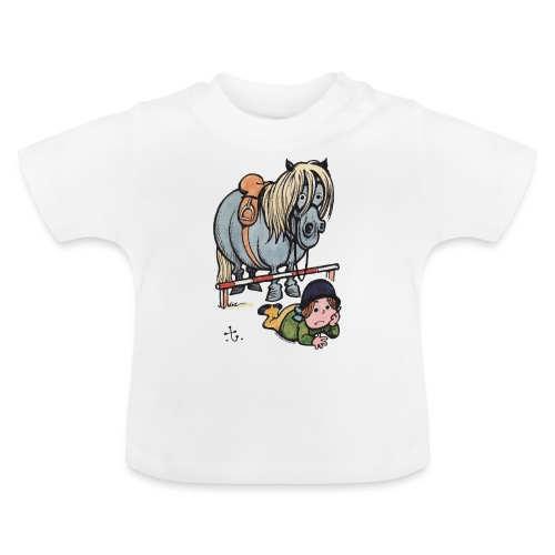 Thelwell Funny Showjumping Gone Wrong - Baby T-Shirt