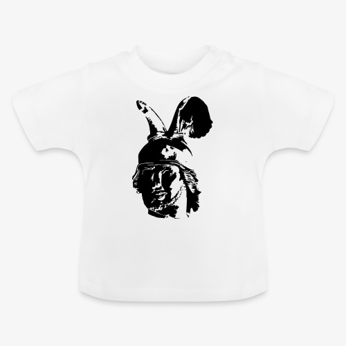 Kopf des Hermannsdenkmals - einfarbig, schlicht - Baby T-Shirt