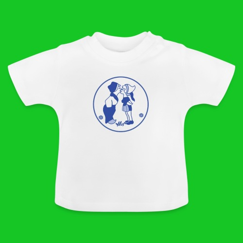 Delfts blauw kussend sexy boerinnetje - Baby T-shirt