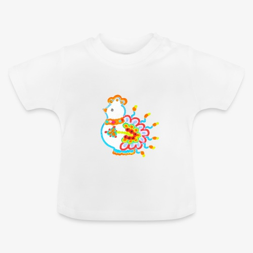 Vogel neon bunt - Baby T-Shirt