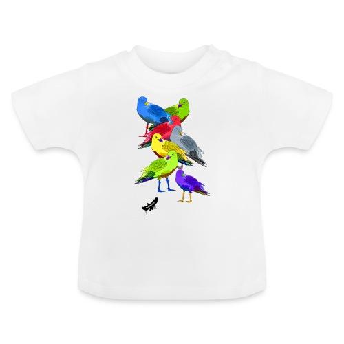 Seagulls by BlackenedMoonArts, with logo - Baby T-shirt