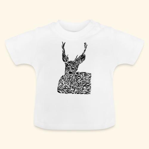 deer black and white - Vauvan t-paita