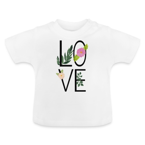 Love Sign with flowers - Baby T-Shirt
