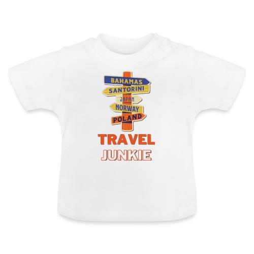 traveljunkie - i like to travel - Baby T-Shirt