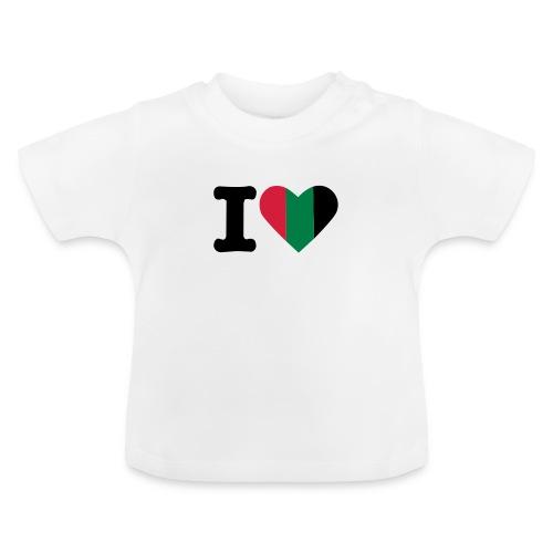 hartjeroodzwartgroen - Baby T-shirt
