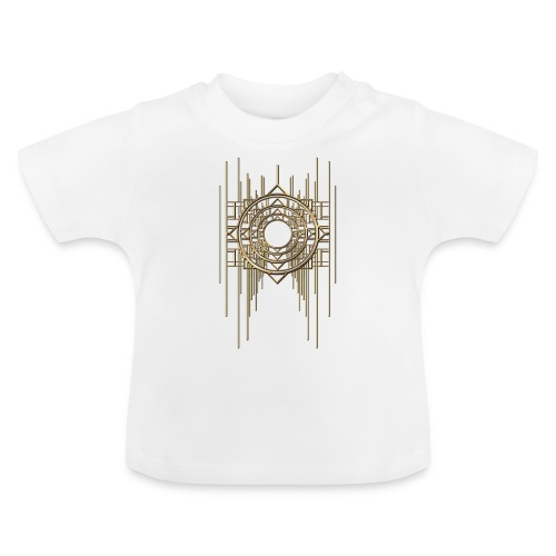 Abstract Geometry Gold Metal Art Deco Vintage - Baby T-Shirt
