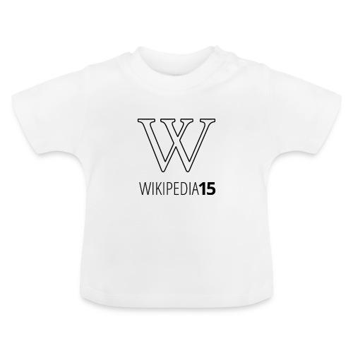 W, rak, vit - Baby-T-shirt