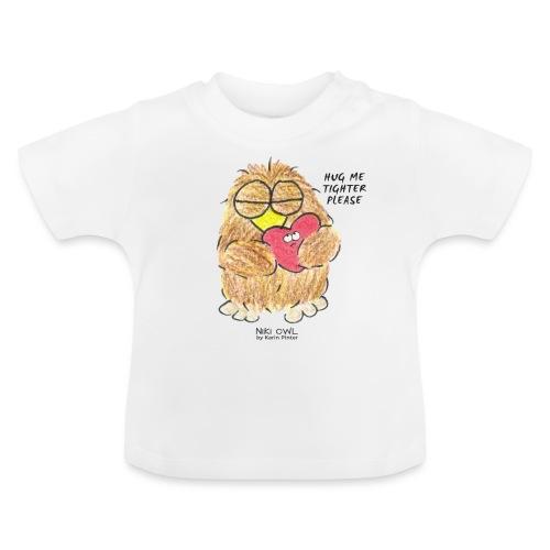 Niki Owl Abrázame más fuerte - Camiseta bebé