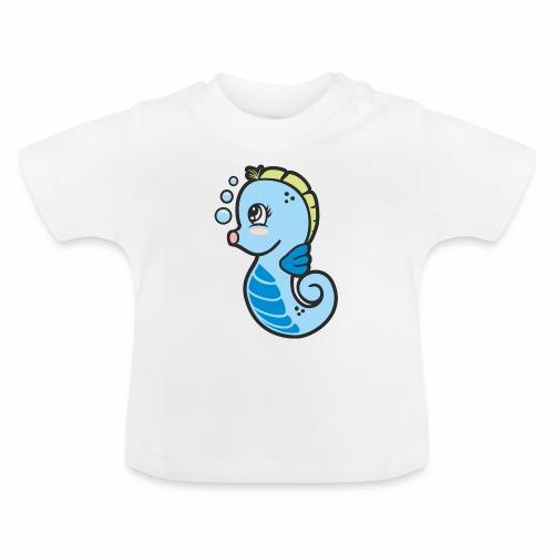 Seepferdchen blau - Baby T-Shirt