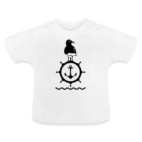 Möwe Steuerrad Anker Wellen Küste Meer Hafen - Baby T-Shirt