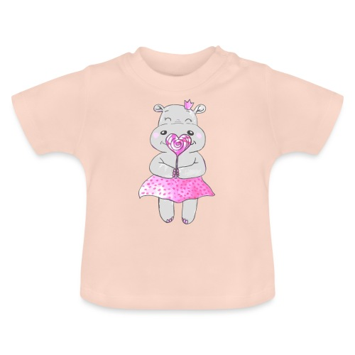 Happy Hippo - Baby T-Shirt