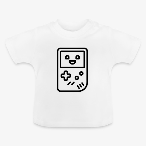 Smiling game console (black) - Baby T-Shirt