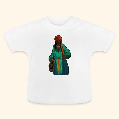 Femme avec sac motif - T-shirt Bébé