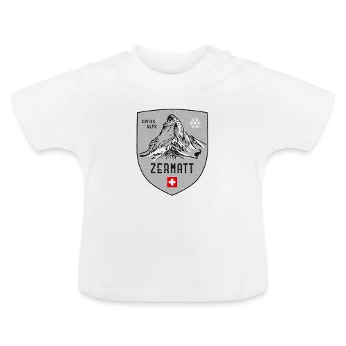 Zermatt Schweiz Wappen - Baby T-Shirt