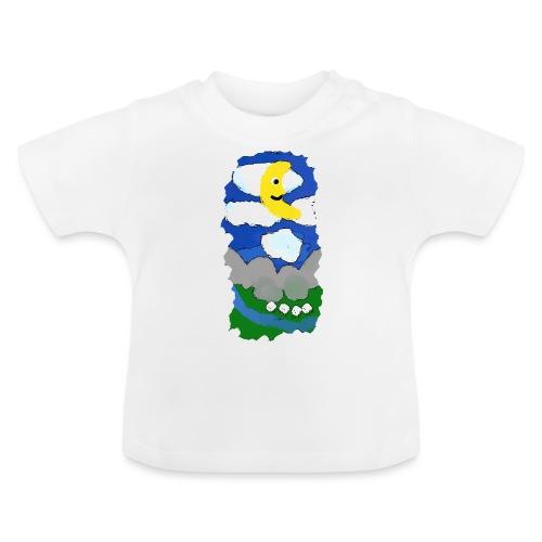 smiling moon and funny sheep - Baby T-Shirt