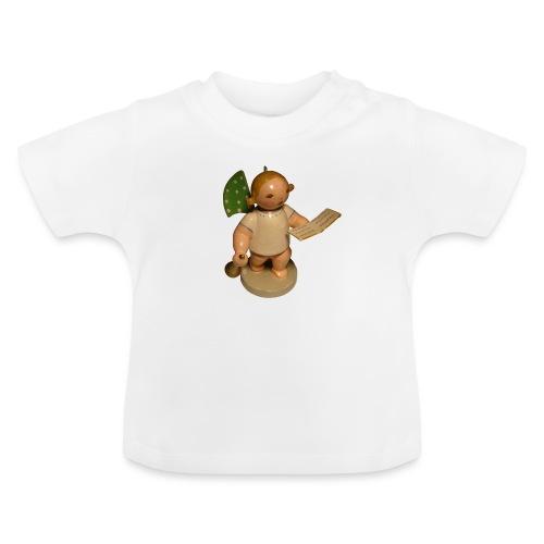 Engel mit Notenblatt + Trompete Retro Vintage Alt - Baby T-Shirt