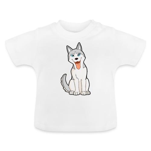 Husky grigio occhi azzurri - Maglietta per neonato