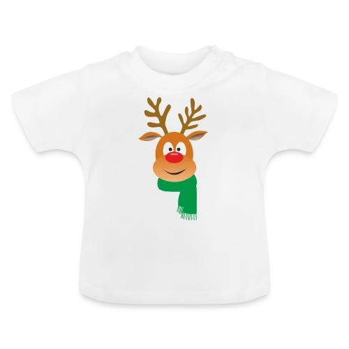 Reno bufanda verde - Camiseta bebé