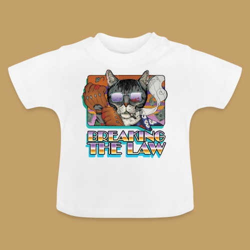 Crime Cat in Shades - Braking the Law - Koszulka niemowlęca