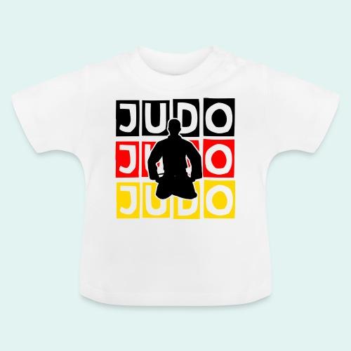 Judo Motiv Schwarz Rot Gold - Baby T-Shirt