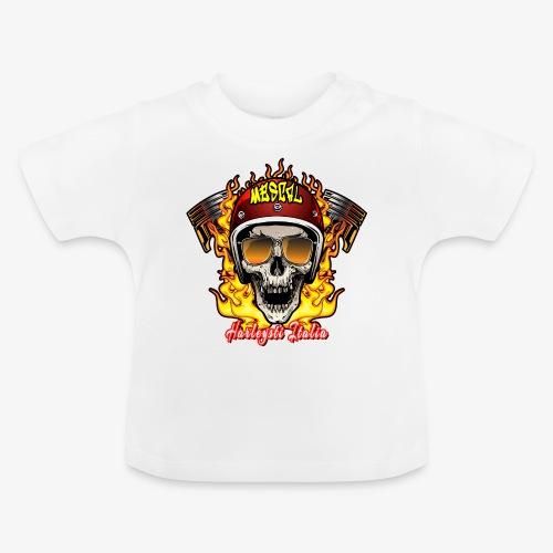 Teschio in fiamme per motociclisti by Mescal - Maglietta per neonato