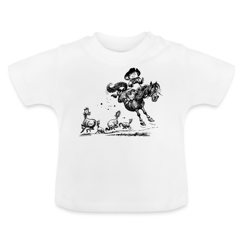 Thelwell Cowboy Westernrodeo - Baby T-Shirt