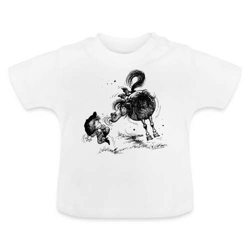 Thelwell 'Pony sticks out his tounge. - Baby T-Shirt