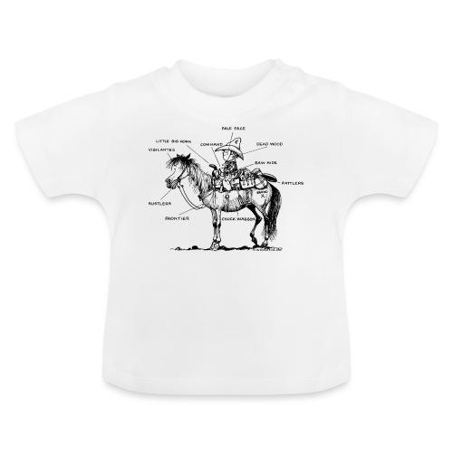 Thelwell Cartoon Bescheribung Westernpferd - Baby T-Shirt