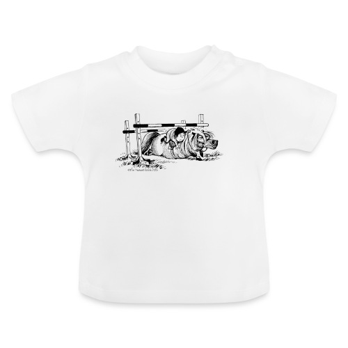 Thelwell Cartoon Pony Sturz - Baby T-Shirt