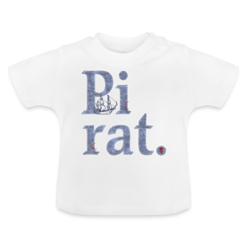 Pirat mit Schiff - Baby T-Shirt