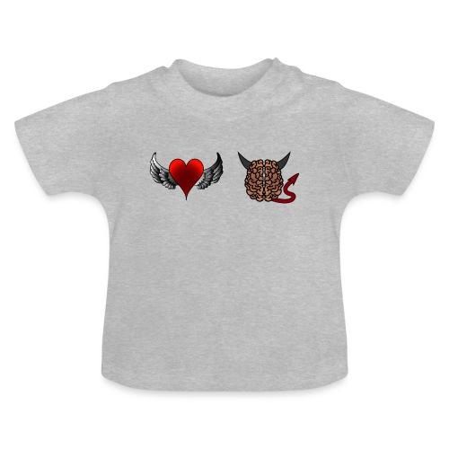 Herz Engel Hirn Teufel lustiges Motiv Geschenk - Baby T-Shirt