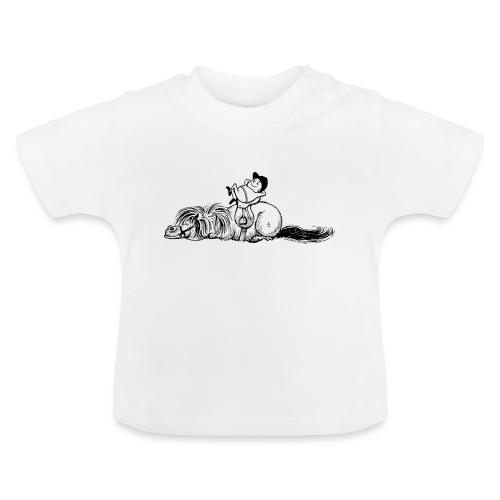Thelwell Pony und Reiter schlafen - Baby T-Shirt
