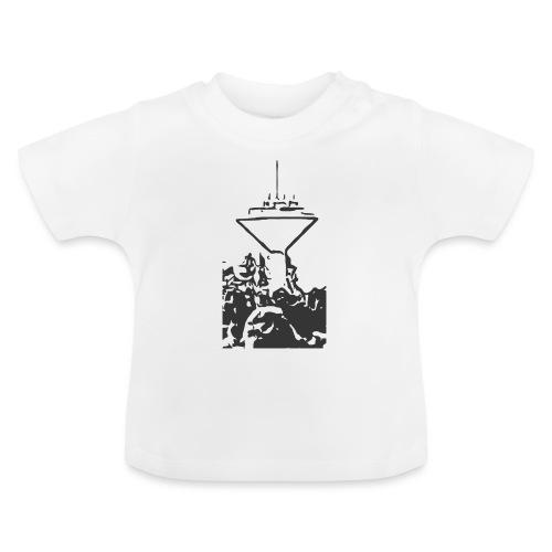 Wasserturm Rottweil schwarz - Baby T-Shirt