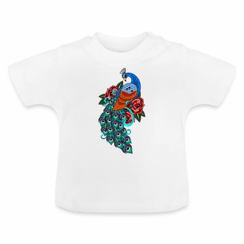 Farverig påfugl - Baby T-shirt